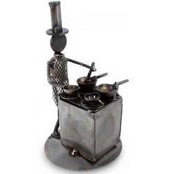 Rustic Chef Iron Statuette
