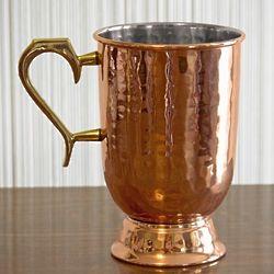Hammered Copper Beer Mug