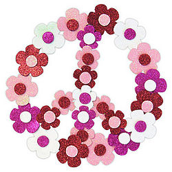Peace Sign Flower Wreath Kit