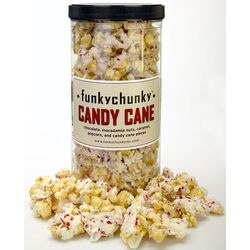 Funky Chunky Candy Cane Popcorn Canister