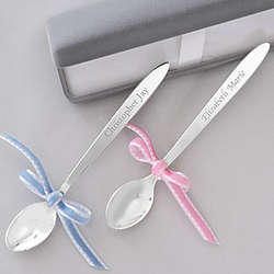 Personalized Silver Baby Spoon Keepsake