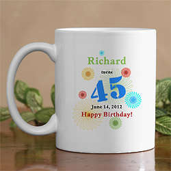 Confetti Birthday Personalized Mug
