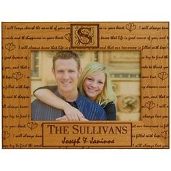 Wooden Personalized Loving Sentiment Frame