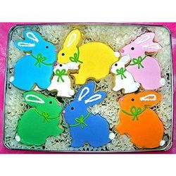 Easter Bunnies Sugar Cookie Gift Tin