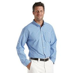 Men's UPF 50+ Summer Weight Gingham Shirt
