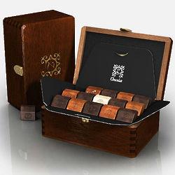 Ruby Rekindled Desire Mahogany Box of French Chocolates
