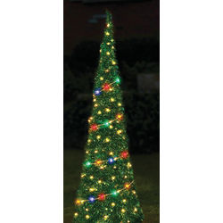 Pre-Lit Pop-Up 6-Foot Tinsel Tree
