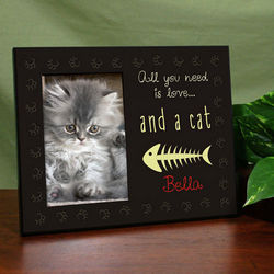 Personalized All You Need Is Love and a Cat Printed Frame