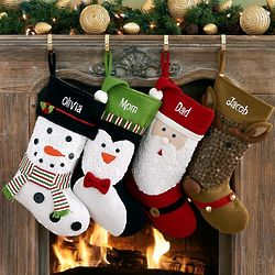 Personalized Button Character Stocking