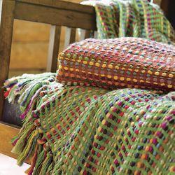 Soft Yarn Fiesta Throw Blanket