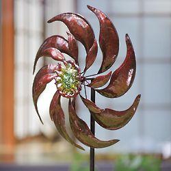 Center Sun Face Metal Wind Spinner