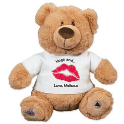 Personalized Hugs and Kisses Recordable Teddy Bear