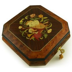 Italian Made Lute Musical Jewelry Box