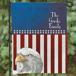 American Eagle Personalized Garden Flag