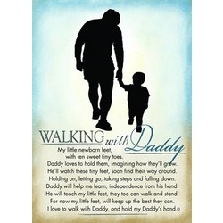 Walking with Daddy Plaque