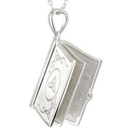 Sterling Silver Irish Blessings Book Pendant