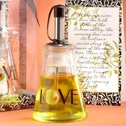 Olive You! Glass Oil Bottle Favor