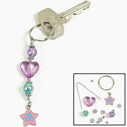 Number One Mom Beaded Key Chain Craft Kit