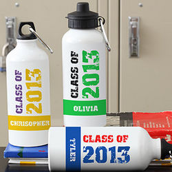 Personalized Glad Grad Graduation Water Bottle
