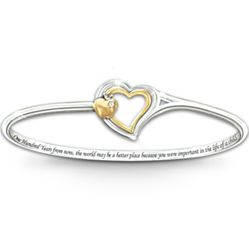Heart of Teaching Engraved Bangle Bracelet