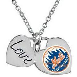 New York Mets Heart Necklace