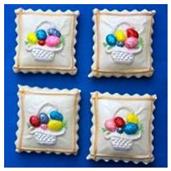 Easter Basket Decorated Springerle Cookies