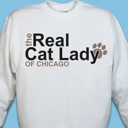 Personalized Real Cat Lady Sweatshirt