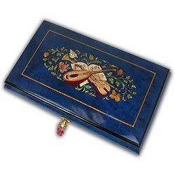 Gorgeous Lute Musical Jewelry Box