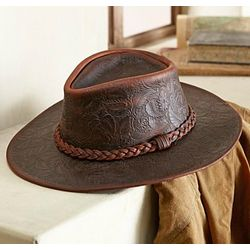 American Tooled Leather Hat