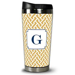 Boatman Geller Stella Gold Travel Tumbler
