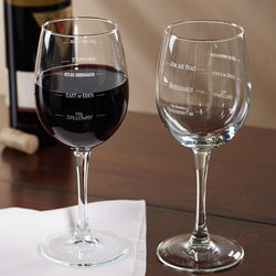Famous Novels Wine Glasses