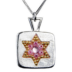 Bat Mitzvah Star of David Necklace