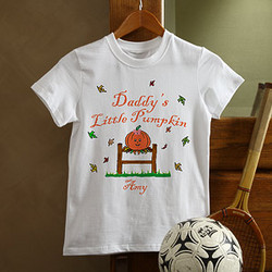 Personalized Halloween T Shirt - Little Pumpkin Design
