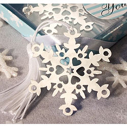 Snowflake Design Bookmark Favors