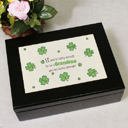 Personalized Lucky Enough Irish Memory Box