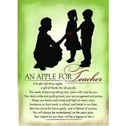 An Apple for Teacher Plaque