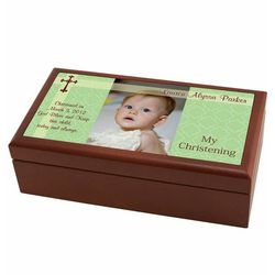 Personalized Christening Photo Box