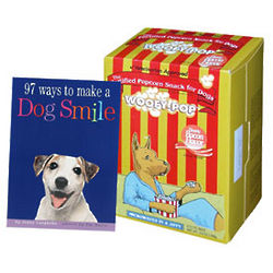 Make A Dog Smile Book and Woofy-Pop™ Popcorn Gift Set