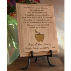 Personalized Teacher's Life of a Child Wooden Plaque