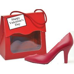 Gourmet Chocolate Mini High Heel in Red Purse