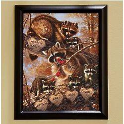 Personalized Raccoon Family Print