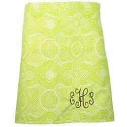 Personalized Lime Flourish A-Line Waist Apron