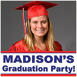 Graduate's Custom Photo Yard Sign