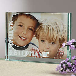 This Is Us Engraved Glass Block Picture Frame