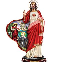 Devotion to the Sacred Heart Jesus Christ Sculpture