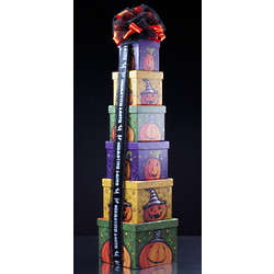 Pumpkin Party Sweets Gift Tower