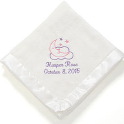 Personalized Baby Love Girl's Blanket