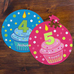 Personalized Birthday Cupcake Puzzle