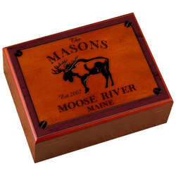 Personalized Moose Design Humidor