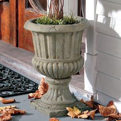 Old-World Style Fluted Urn